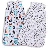 Lictin Baby Sleeping Bag - Baby Wearable Blanket Sleeping Sack Baby 2pcs Baby Swaddle Sack Blanket Sack with Adjustable Lengt