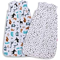 Lictin Baby Sleeping Bag - Baby Wearable Blanket Sleeping Sack Baby 2pcs Baby Swaddle Sack Blanket Sack with Adjustable Length 90-110cm for Infant Toddler 18 to 36 Months