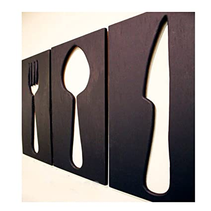 Super Amazon.com: Space Hax Giant Fork Spoon Knife Kitchen Utensils Wall  QP85