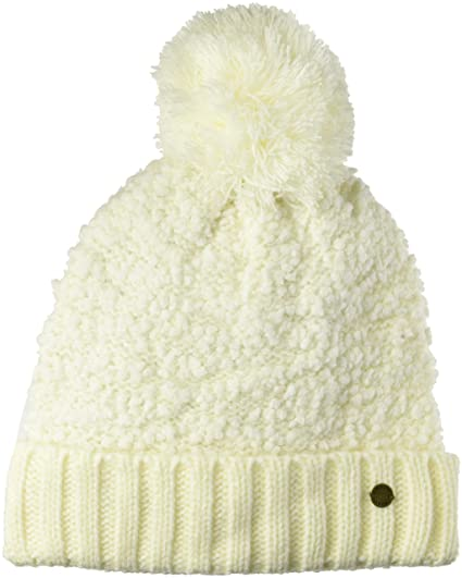 c42a7230 Roxy Junior's Happy Storm Beanie Hat, Marshmallow One Size at Amazon  Women's Clothing store: