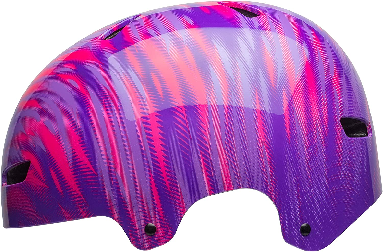 Pink//Purple Bell Ollie Bike /& Skate Helmet