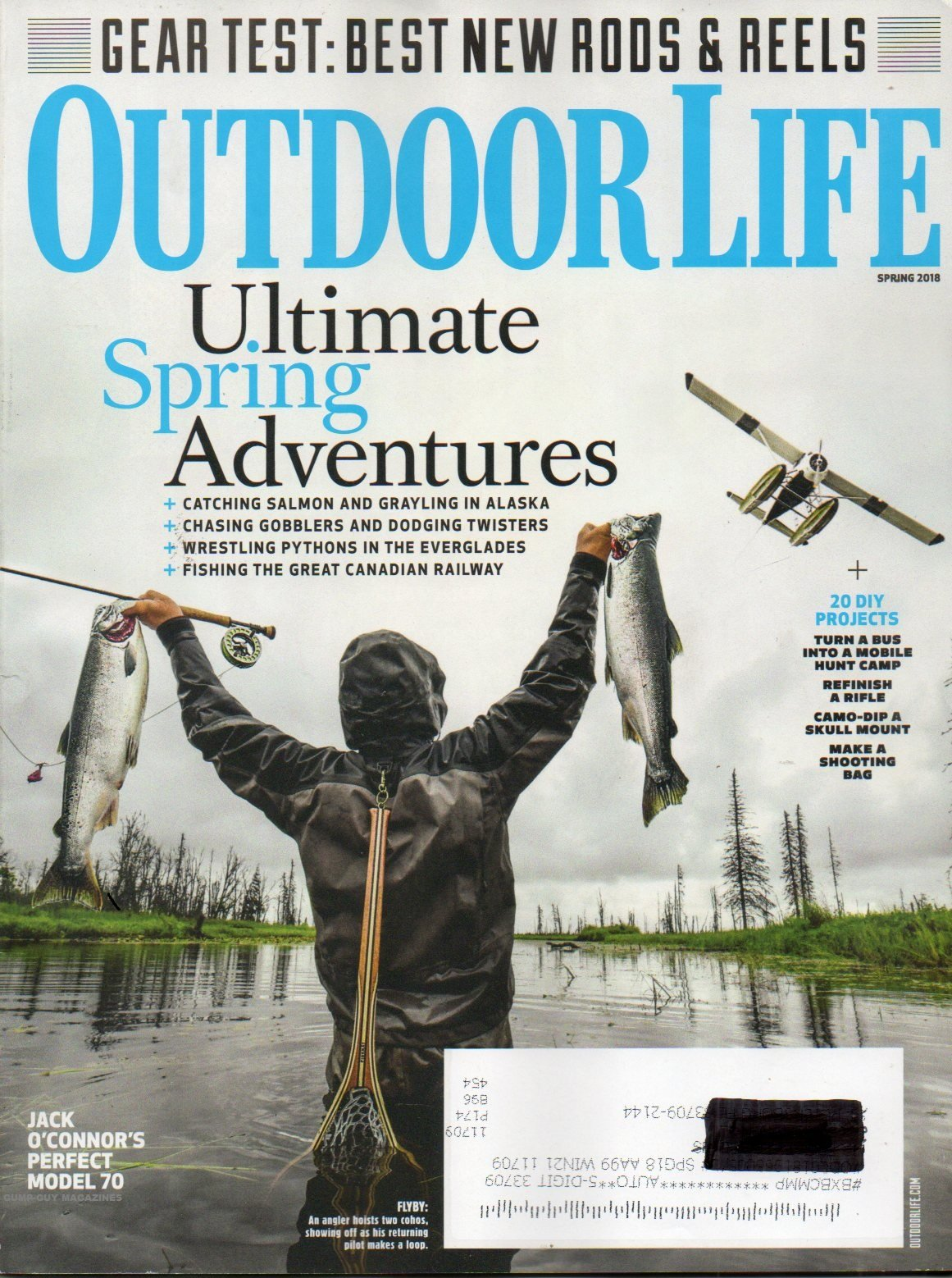 JACK O'CONNOR'S PERFECT MODEL 70 Outdoor Life Magazine GEAR TEST: BEST NEW RODS & REELS IN 2018 Make A Shooting Bag CAMO-DIP A SKULL MOUNT Refinish A Rifle PDF