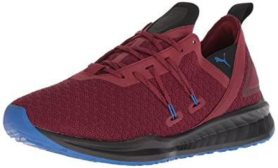 04e2f9d9711f PUMA Men s Ignite Ronin Sneaker Pomegranate Black Strong Blue