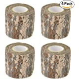 Camo Gun Wrap Tape Rifle Shotgun Camouflage Form Wrap Military Army Hunting Self-adhesive Protective Multi-functional Stretch Bandage for Firearms,Rifles,Flashlights,Scope,Knife,Bicycle