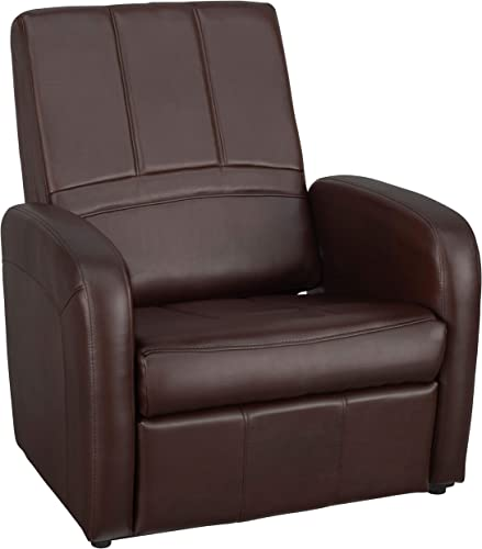 RecPro Charles RV Gaming Chair Ottoman Conversion | Built-in Storage | RV Furniture | Great