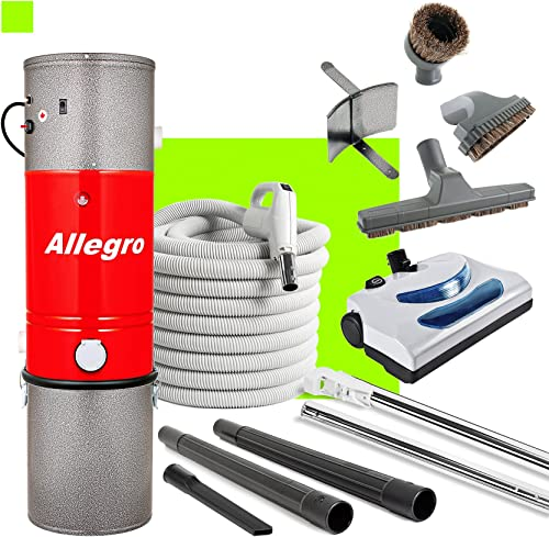 Allegro Central Vacuum MU4100 3,000 sq. ft. Unit 30 ft Hose and Powerhead Kit