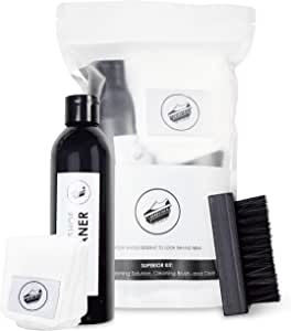 Deadstock Los Angeles Shoe & Sneaker Cleaner Kit - All Natural Solution 8 Oz. Bottle, Brush & Cloth - Suitable for Canvas, Cloth, Mesh, Knit, and More!