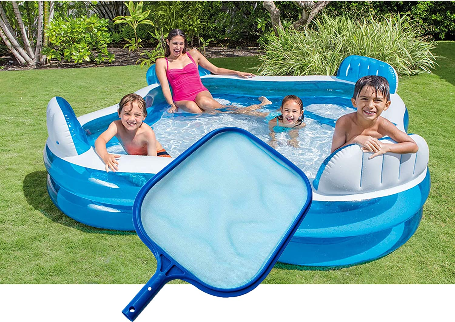 DEH Swimming Pool Leaf Net Fine Mesh Pools Spas Skimmer for Hot Tub Fountains Blue