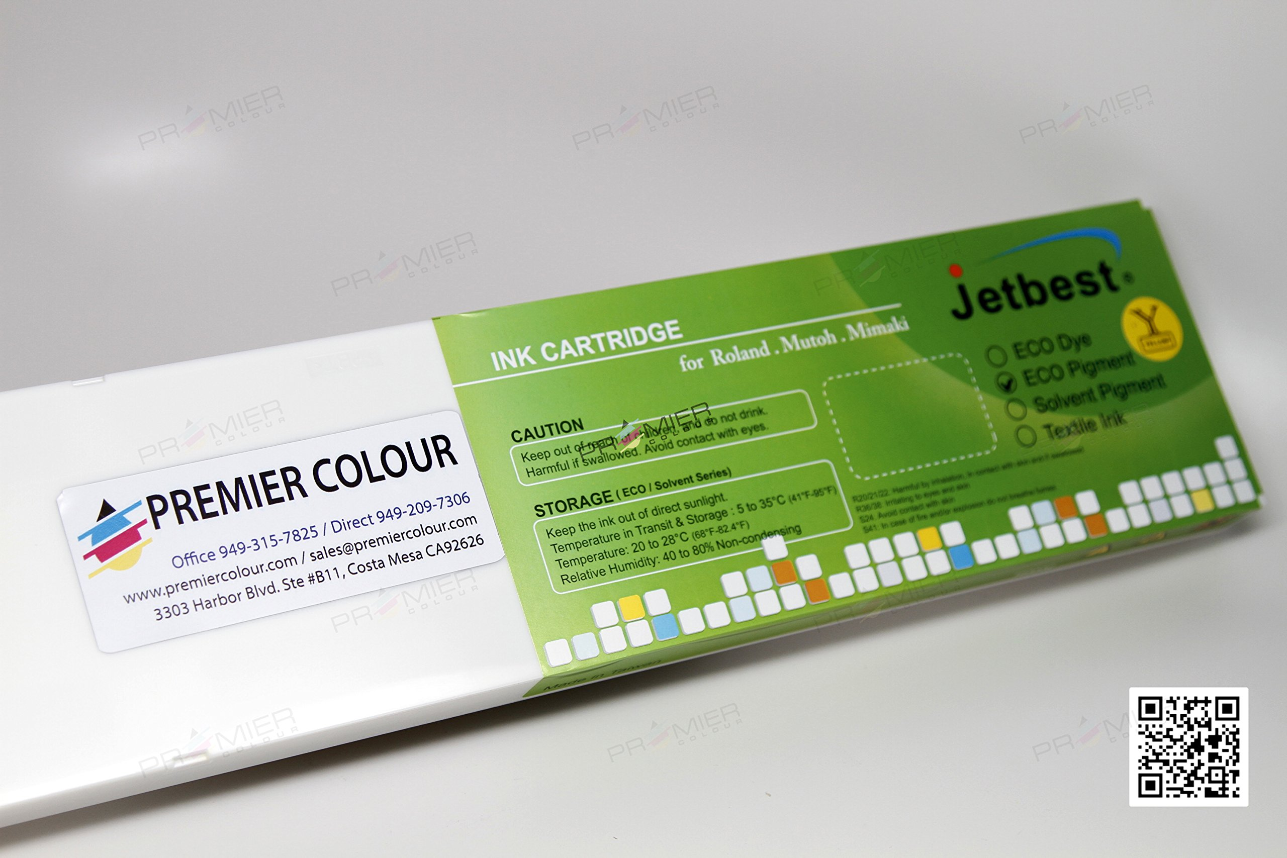 JETBEST SS21, 440mL Eco Solvent Ink Cartridge, for MIMAKI SS21 (Yellow)
