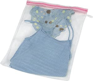 Household Essentials 121 Mesh Lingerie Bag for Laundry - Use in Washing Machines- White