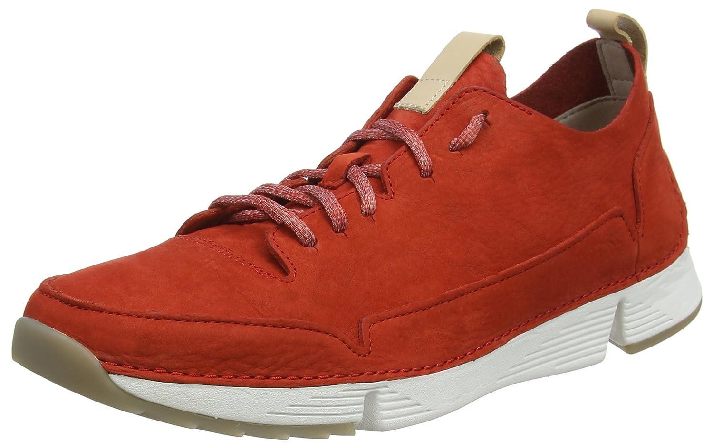 Clarks Tri Spark, Zapatillas para Hombre 47 EU Rojo (Red Nubuck -)