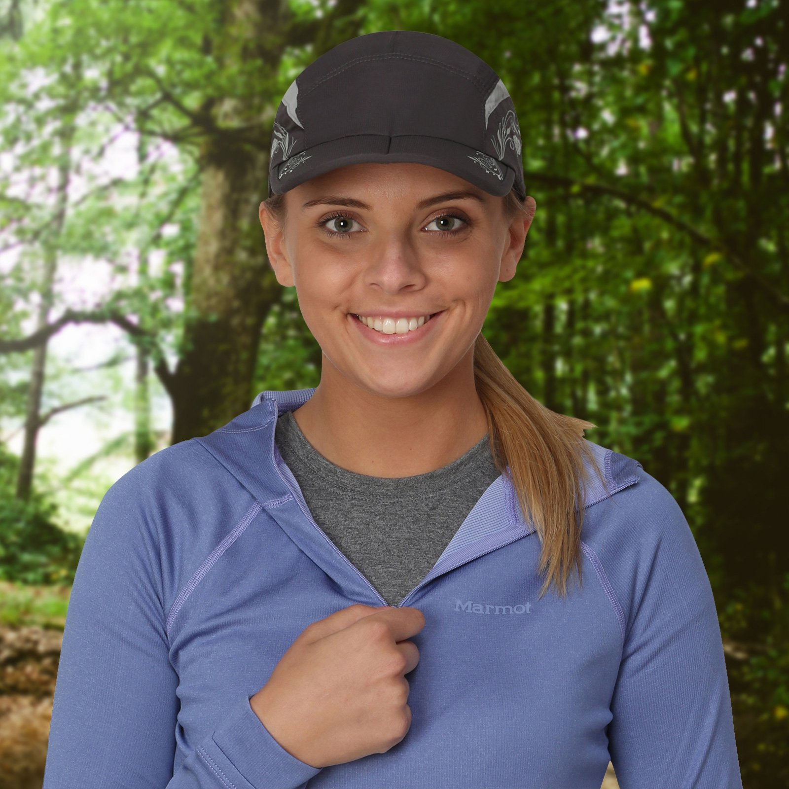 TrailHeads Lightweight Travel Hat | Summer Running Cap for Women | Folding Hat with UV Protection - Medium/Large by TrailHeads (Image #3)