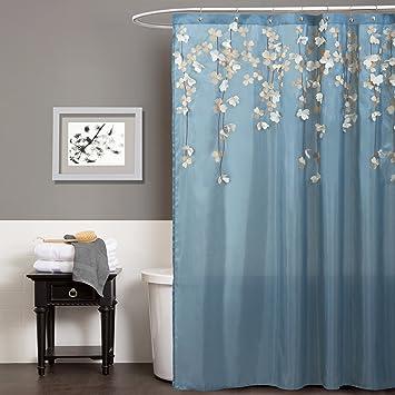 Lush Decor Flower Drops Shower Curtain 72quot By Blue