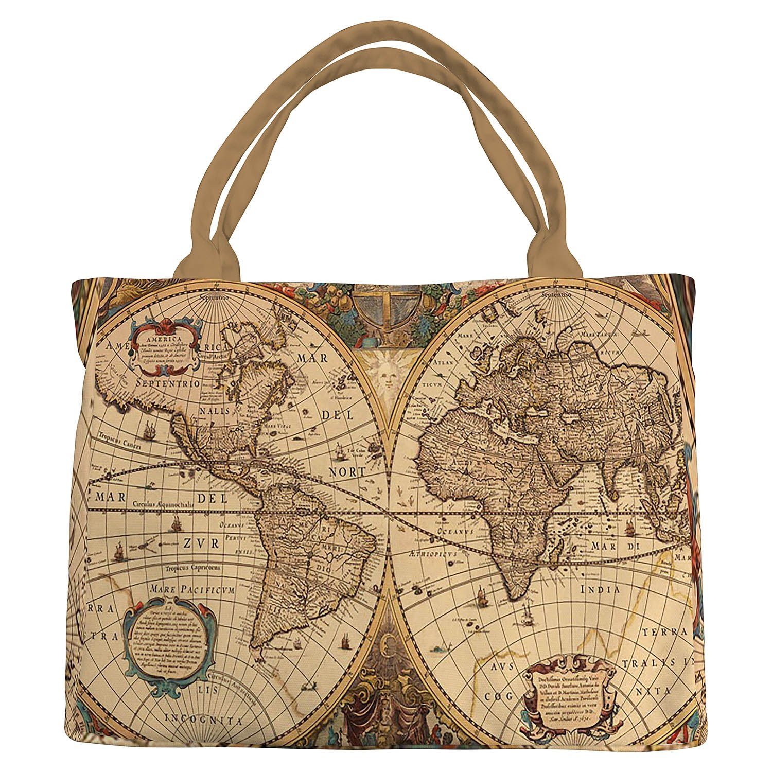 fc5feaebe79 Amazon.com: Custom World Map Canvas Shoulder Bag,Vintage Retro World Map  Canvas Shoulder Bags Handbags Tote Bags Shopping Bag: Shoes