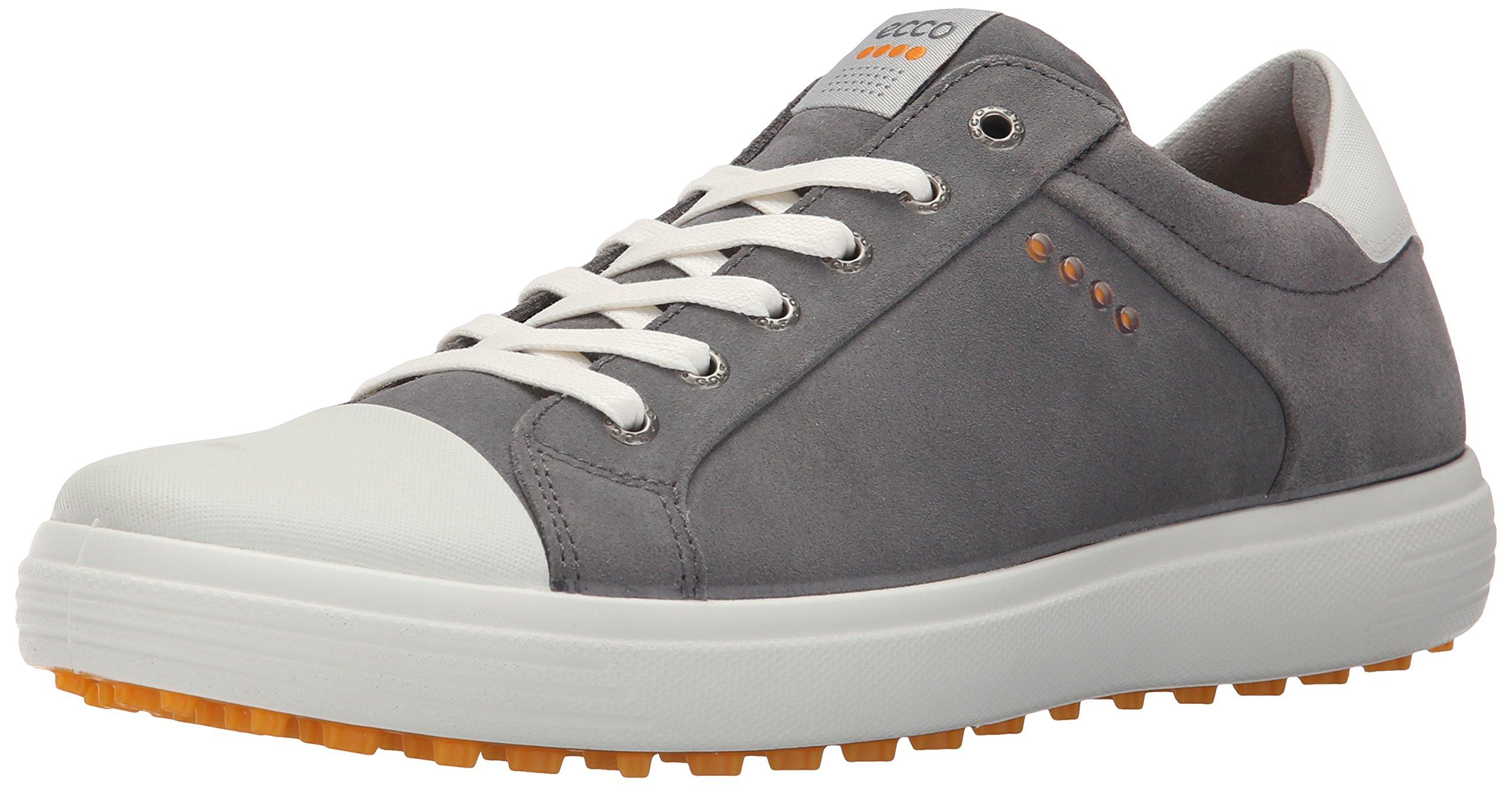 ECCO Men's Casual Hybrid Golf Shoe, Titanium/White, 46 EU/12-12.5 M US