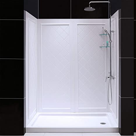 Dreamline Slimline 36 By 60 Shower Base Right Hand Drain And Qwall