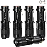 ZeHero LED Tactical Handheld Flashlights Small Water Resistant Zoomable for Camping Cycling Hiking Emergency Torch Lights(Pack of 5)