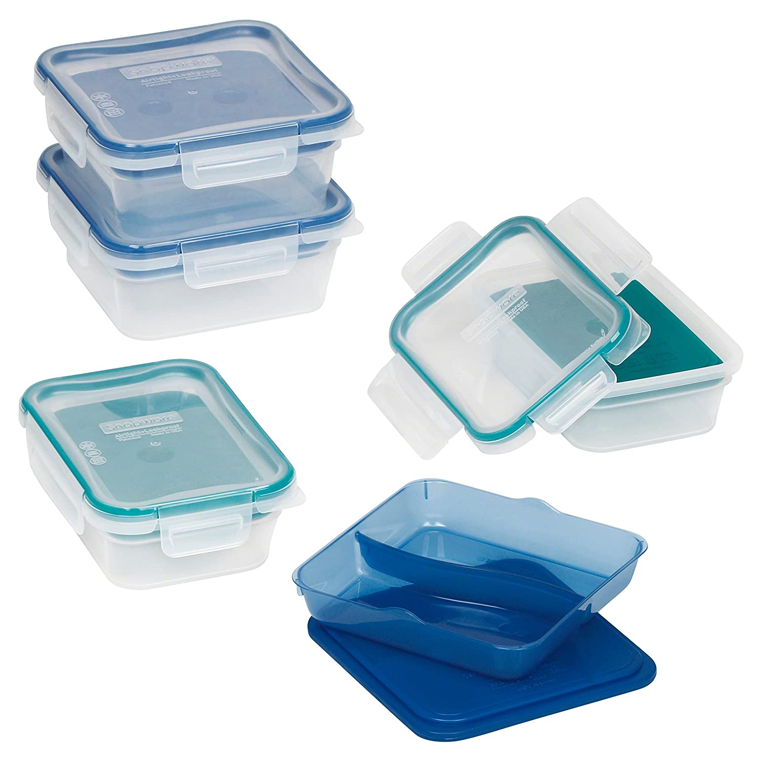Snapware Glass Total Solutions 4-Piece Square Value Pack