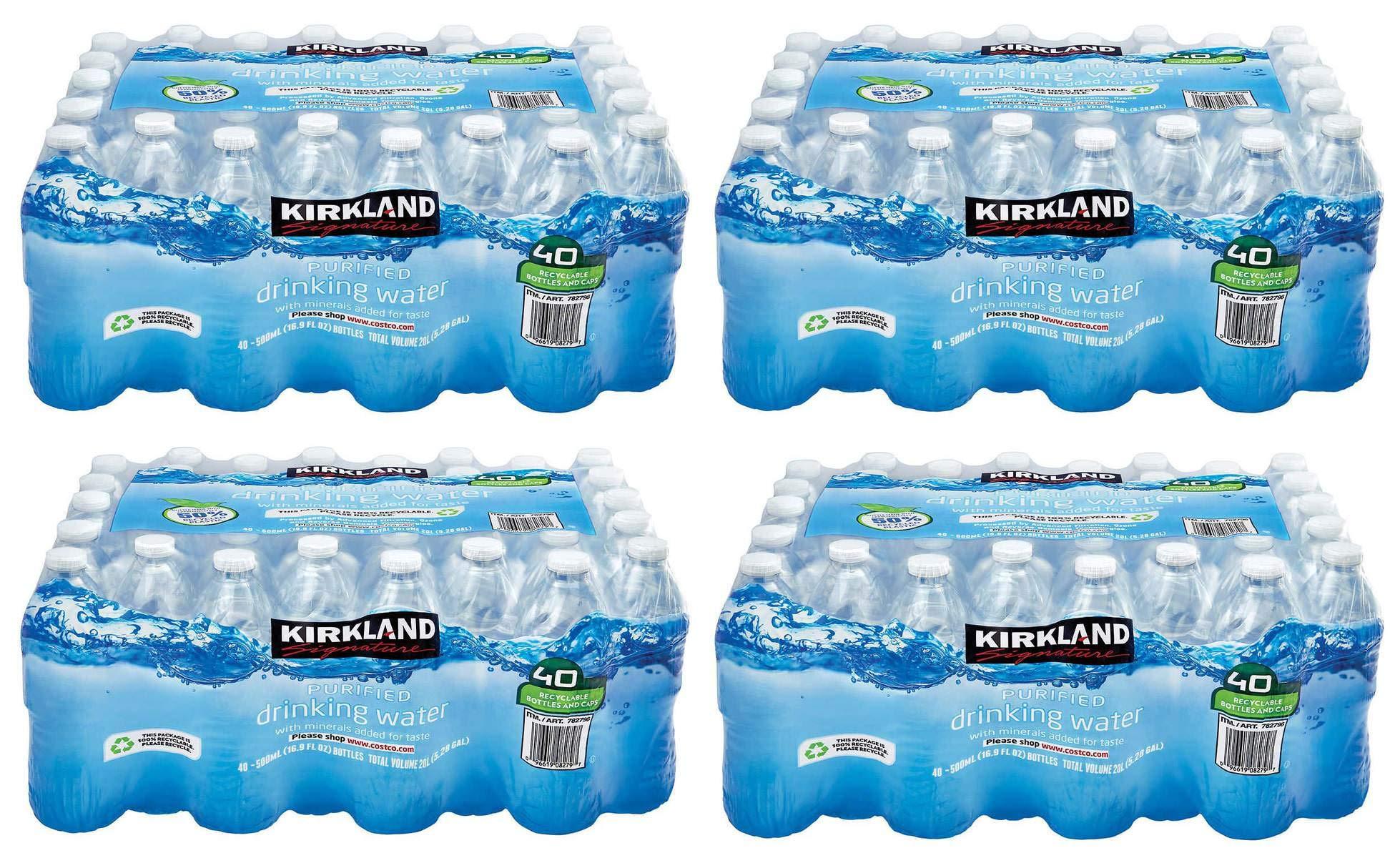 SLTYGJHJ Purified Drinking Water, 16.9 Ounce, 4 Pack of 40 Bottles