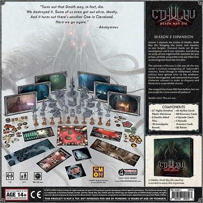 Cthulhu EECMCD02 Death May Die Season 2 Colour Edge Entertainment