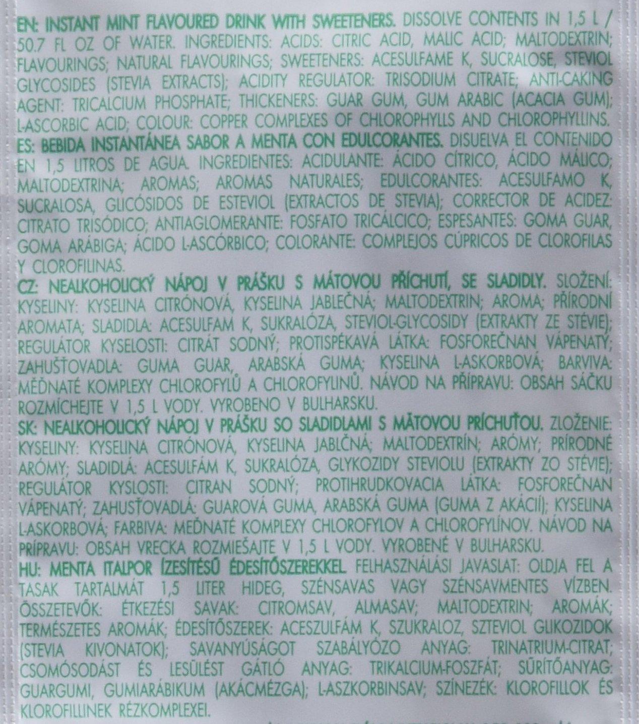 Bolero Bebida Instantánea Sabor Menta - Paquete de 12 x 36 gr - Total: 432 gr: Amazon.es: Salud y cuidado personal