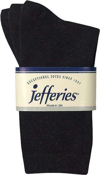 Amazon.com: Jefferies Socks Boys Casual Cotton Crew School Dress Socks 3  Pair Pack (L - USA Shoe 6-9 - Age 10+ Year, Black): Clothing
