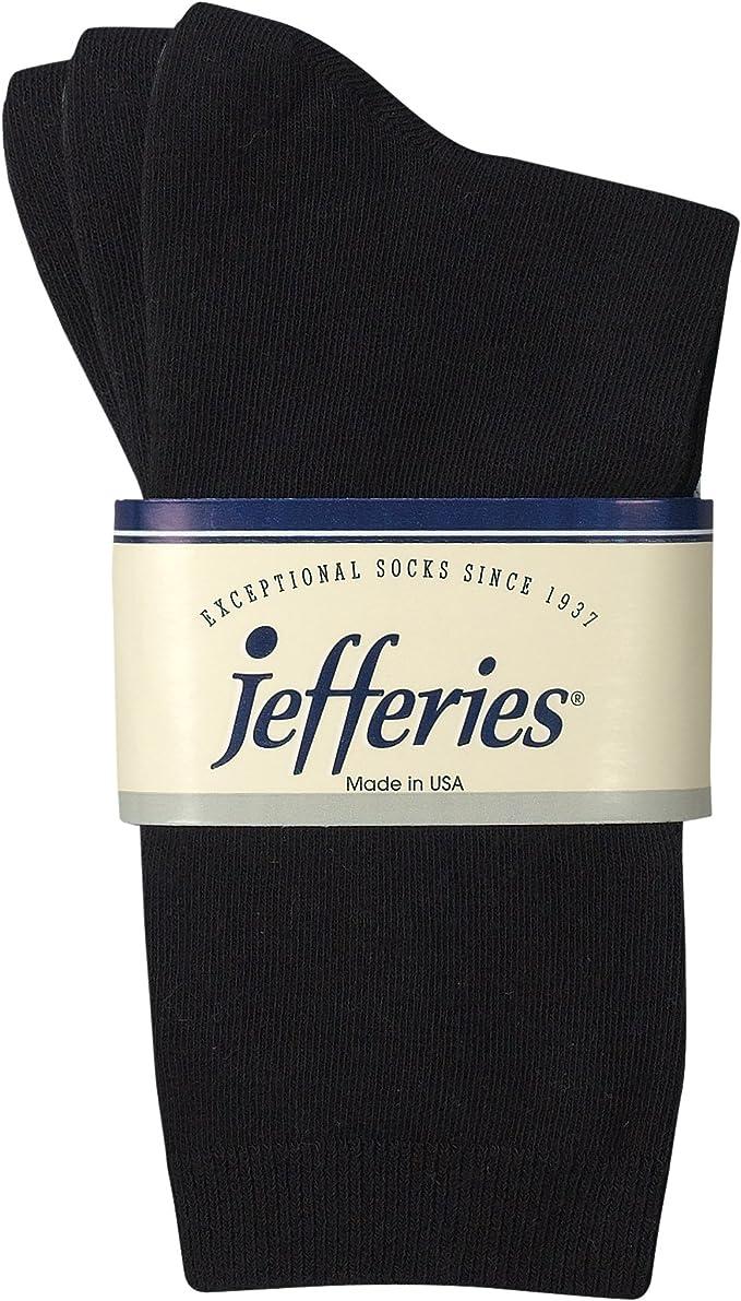 Jefferies Socks Boys School Uniform Rib Crew Dress Socks 12 Pair Pack