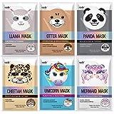 Epielle Character Sheet Masks | Animal Spa Mask | Llama, Mermaid, Panda, Cheetah, Unicorn, Otter | Korean Beauty Skincare Mas
