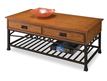 Home Styles 5050 21 Modern Craftsman Coffee Table, Distressed Oak Finish
