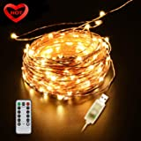 Ylife Fairy Light, 8 Modes String Lights Waterproof, String Lights, USB Interface Remote Control, Decorative Copper Wire Lights for Festival Party (33FT)