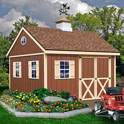 Amazon com : Best Barns Mansfield 12' X 12' Wood Shed Kit