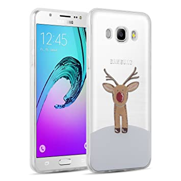sports shoes ffb5a 91ff7 Galaxy J5 (2016) Case - Invisible Gel Christmas Sketch Clear Design Back  Cover for Samsung Galaxy J5 2016, Rudolf
