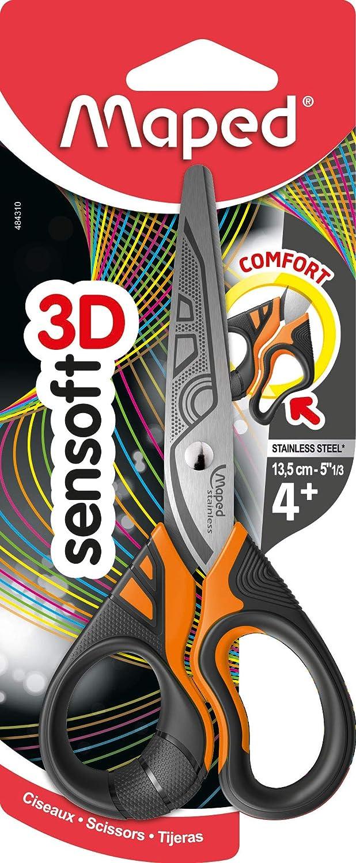 Maped Sensoft Fluo 484310 surtido: colores aleatorios Asim/étrico Tijeras con Asas Flexibles