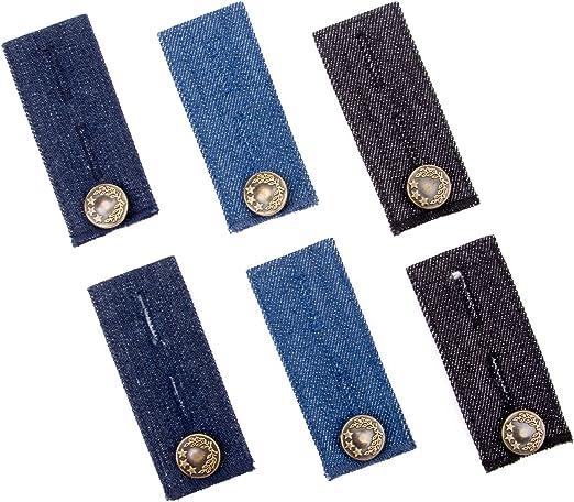 Extensores de cintura de 6 piezas para pantalones vaqueros ...