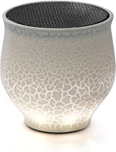 USB-Powered Computer Speaker, Riipoo Mini Portable Desktop Wired USB Speaker, Dazzle LED Light Mono Digital Speakers for PC and Laptop, Come with 3ft USB Cable, White
