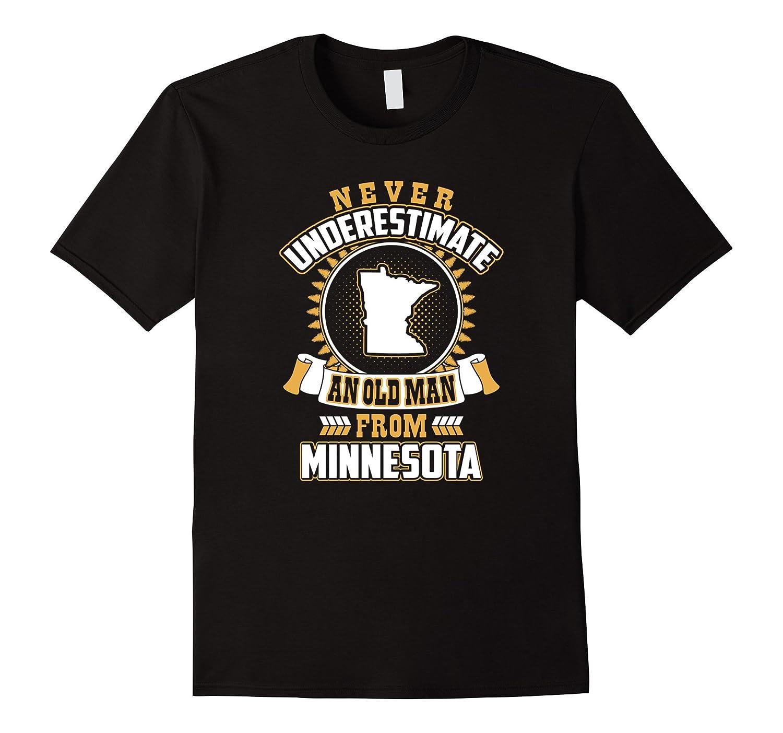 Mens Never Underestimate An Old Man From Minnesota T Shirt - 1081-BN