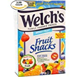 Welch's Family Farmer Owned Fruit Snacks, Mixed Fruits 120 Pouches (3 x 40 Pouches)