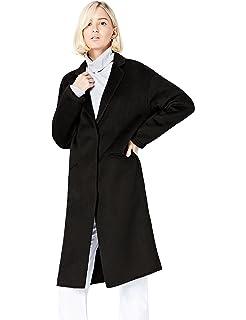 FIND Cappotto Doppiopetto a Quadri Donna  Amazon.it  Abbigliamento 069368929d1