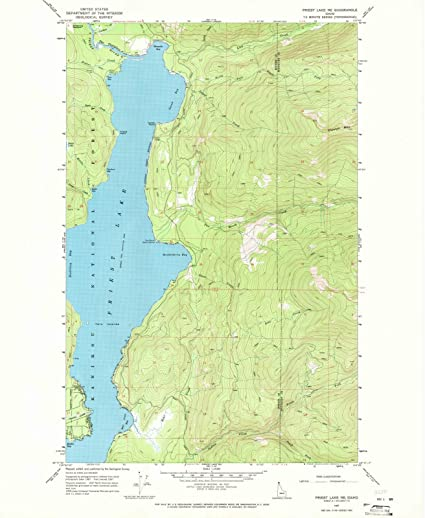 Amazon.com: Idaho Maps | 1967 Priest Lake, ID USGS Historical ...