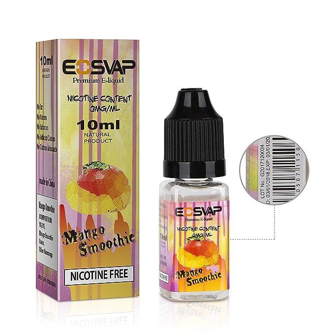 E Liquids 5 X 10 ml, sabor a fruta para cigarrillos Vape E, jugo Vape de sabores mixtos, sin nicotina: Amazon.es: Salud y cuidado personal
