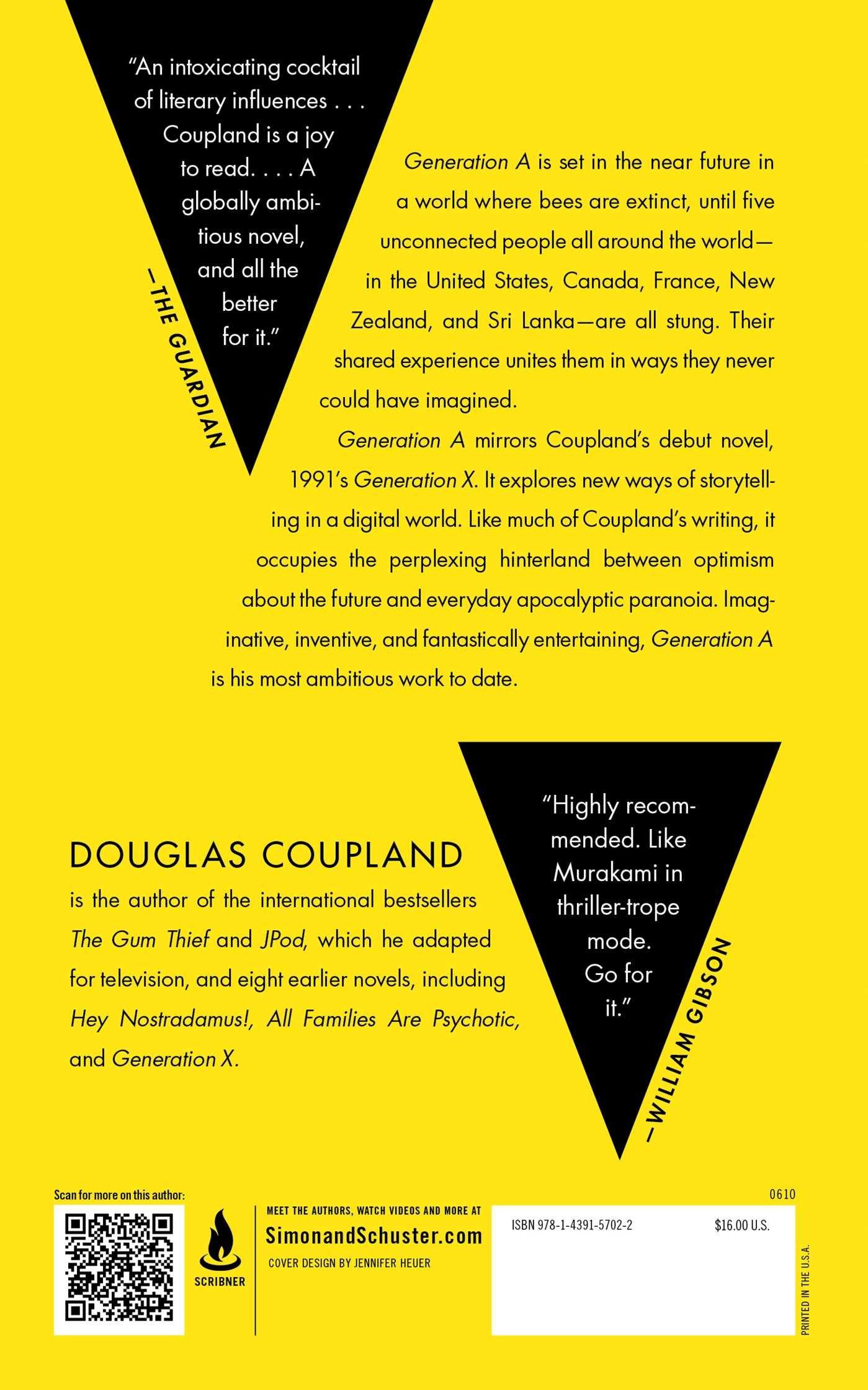 Generation A: A Novel: Douglas Coupland: 9781439157022: Amazon: Books