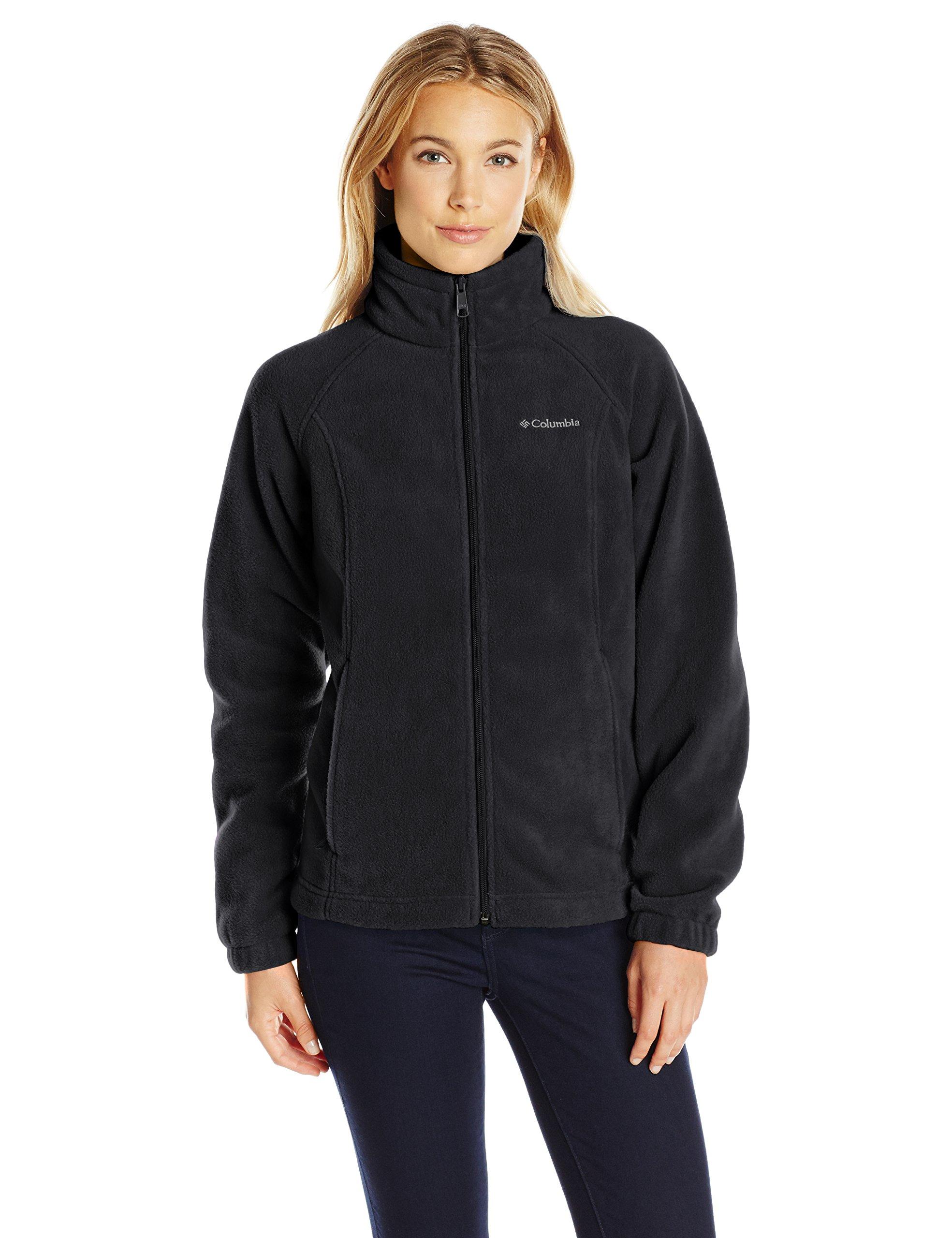 Columbia Women's Petite Benton Springs Full Zip Fleece Jacket - Medium - Black