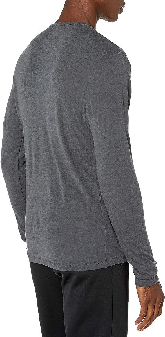 M Icebreaker Mens 175 Everyday LS Crewe Camiseta T/érmica para Hombre Black Hombre