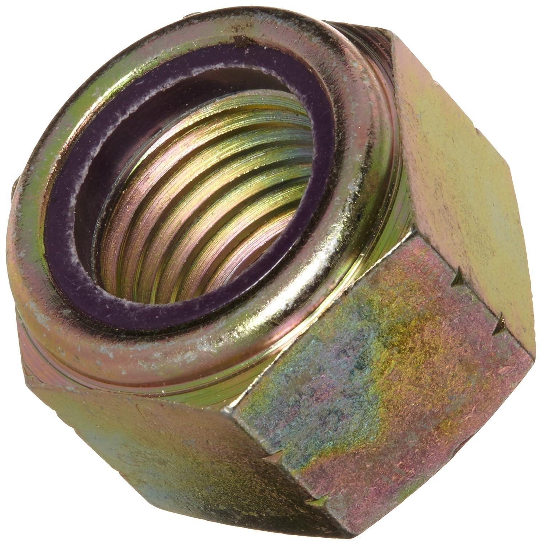 Zinc Yellow-Chromate Plated Finish Right Hand Threads 1.615 Width Across Flats 1-8 Threads 1.615 Width Across Flats Continental-Aero F51NE8-168 6D Nylon Insert Grade 8 1-8 Threads Steel Lock Nut
