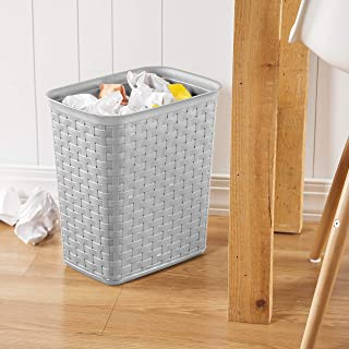 product image for Sterilite 10346A06 3.4 Gallon/13 Liter Weave Wastebasket, Cement, 6-Pack