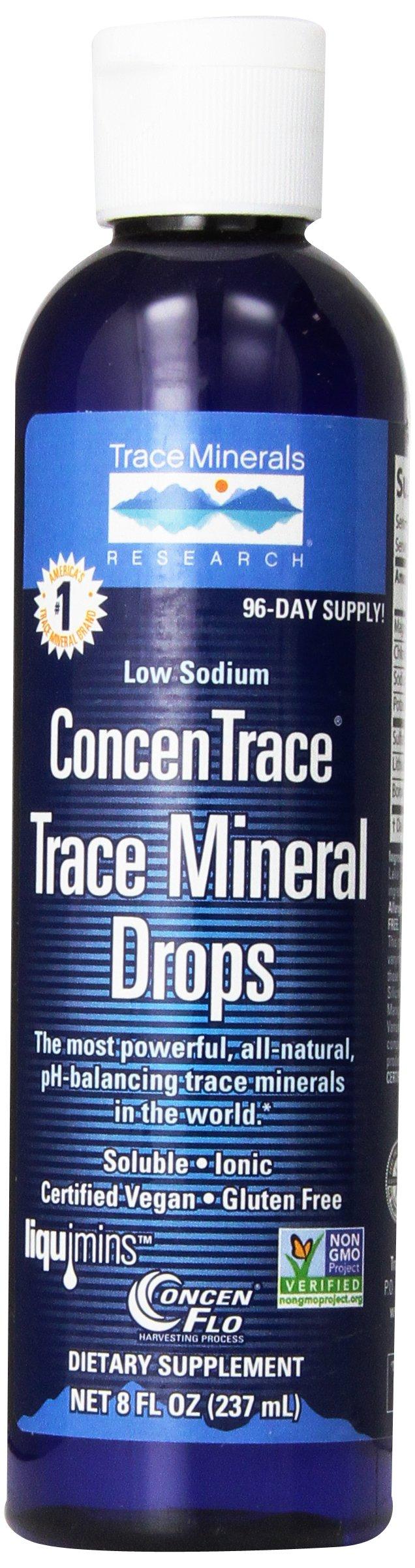 Trace Minerals Research - Concentrace Trace Mineral Drops, 8 fl oz liquid