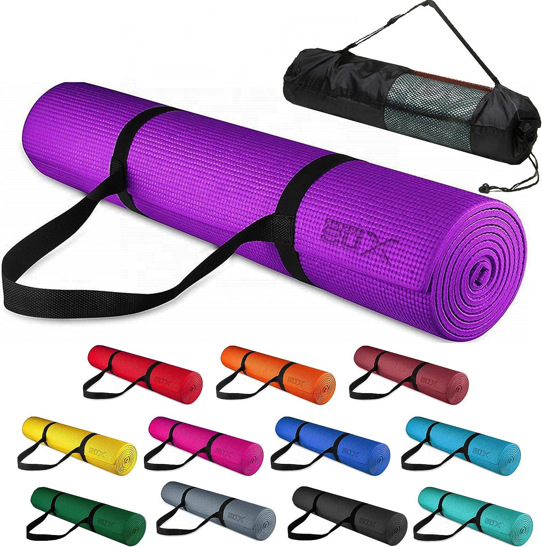 183 x 63 x 0,6cm Trainingsmatte rutschfest Sportmatte Xn8 Fitness Yogamatte mit Tragegurt f/ür Pilates Yoga Gymnastikmatte
