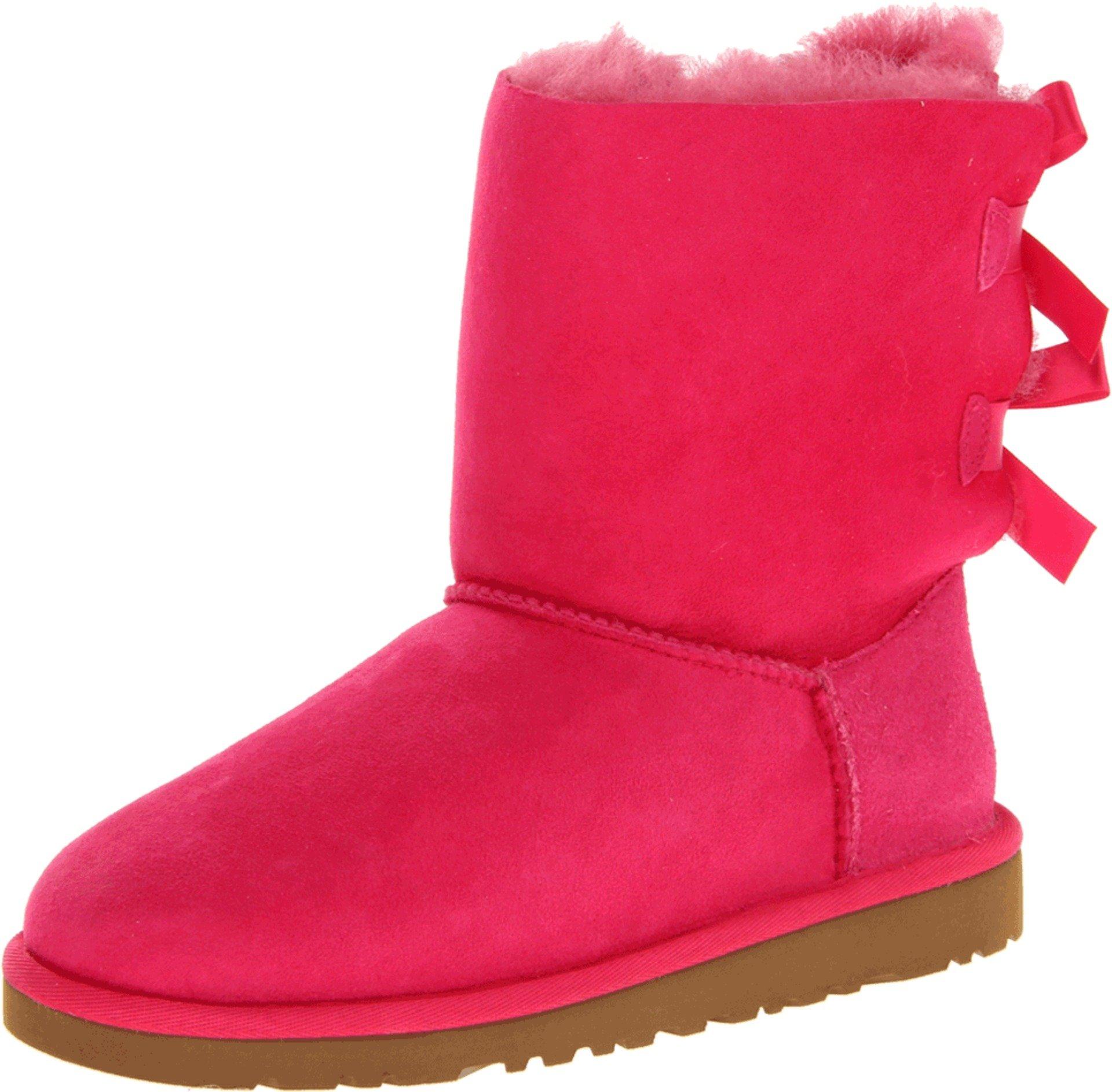 UGG Australia Girls Kids Bailey Bow Cerise Winter Boot - 5
