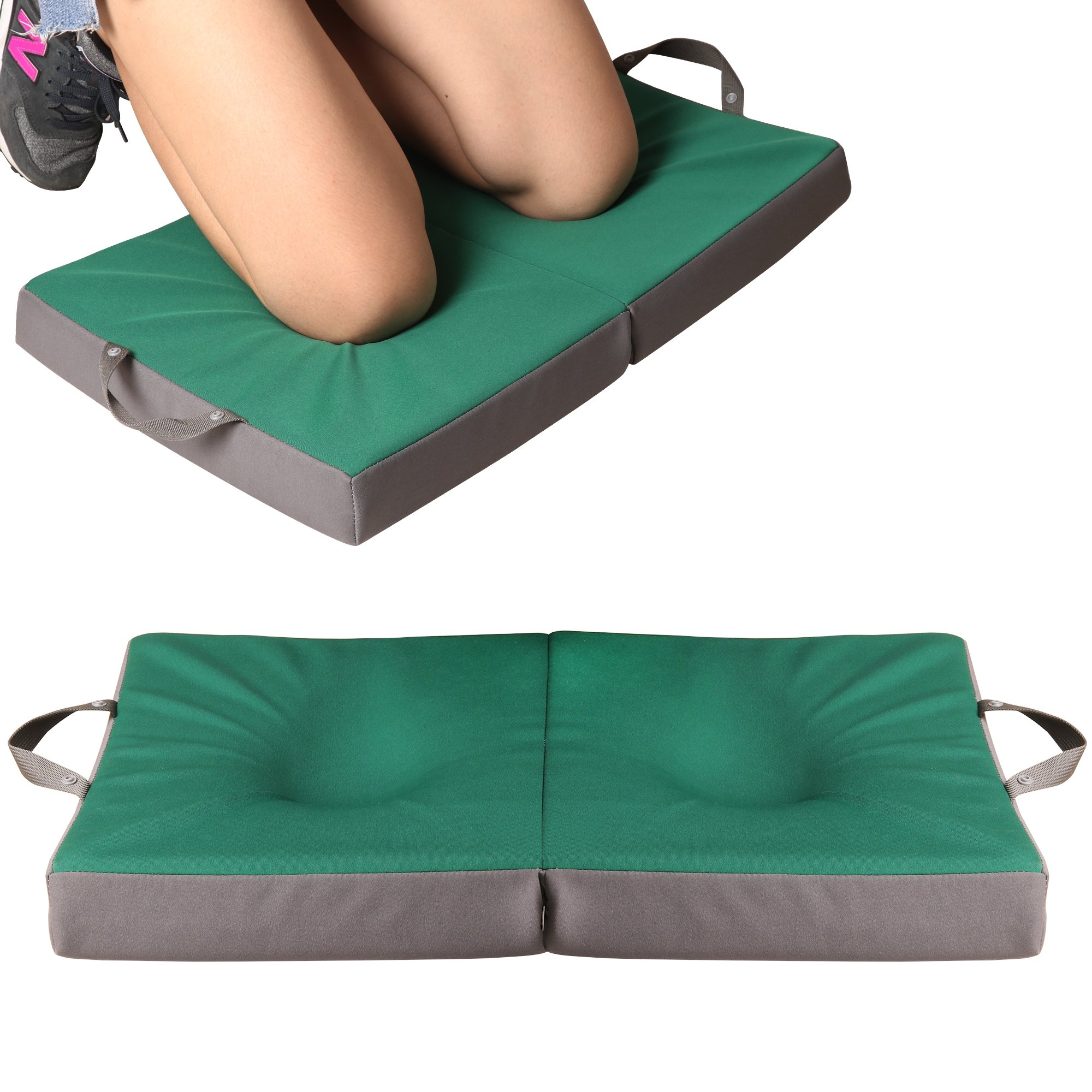 KI Store Garden Kneeling Pad Extra Thick Large Bath Pads Portable Water Resistant High Density Memory Foam Balance Slow Recovery Kneeler Cushion Shock Absorbing EVA Foam (Forest Green)