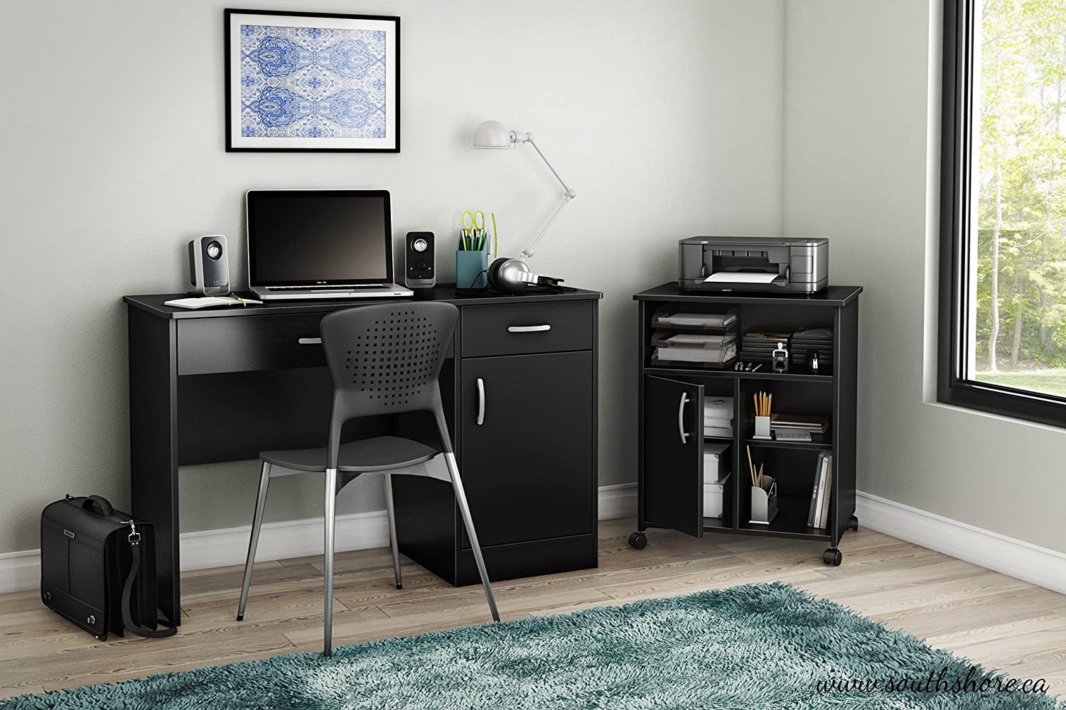 Wonderful Amazon.com: South Shore Axess Collection Printer Stand, Pure Black: Home U0026  Kitchen
